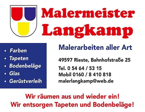 Anzeige Langkamp Maler