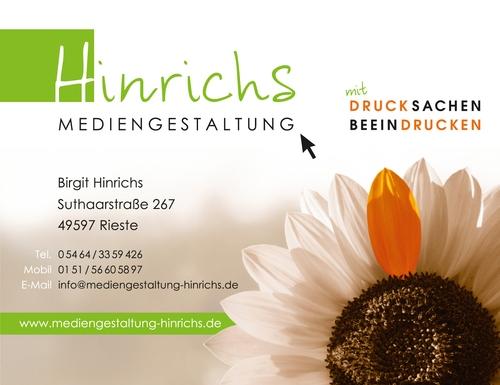 Hinrichs Mediengestaltung, Druck, Webdesign