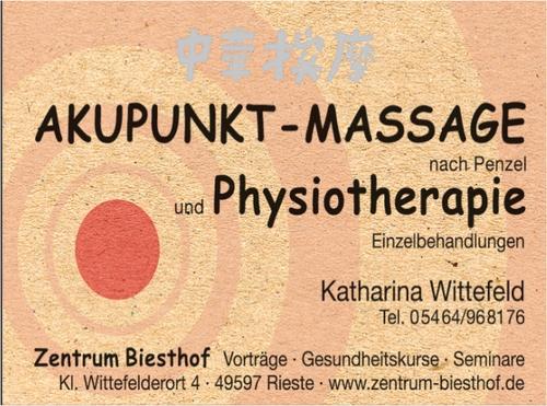 Akupunktur-Massage, Zetrum Biesthof, Wittefeld