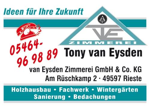 Anzeige Zimmerei van Eysden