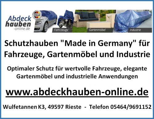 Schutzhauben für Fahrzeuge, Gartenmöbel, Industrie