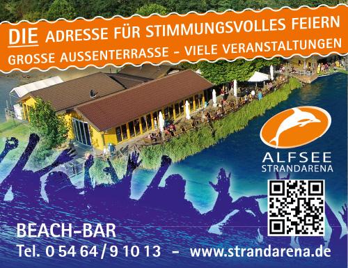 Anzeige Beachbar Alfsee, Feiern