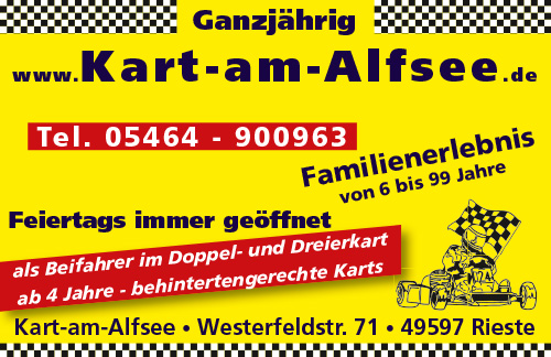 Anzeige Kart am Alfsee