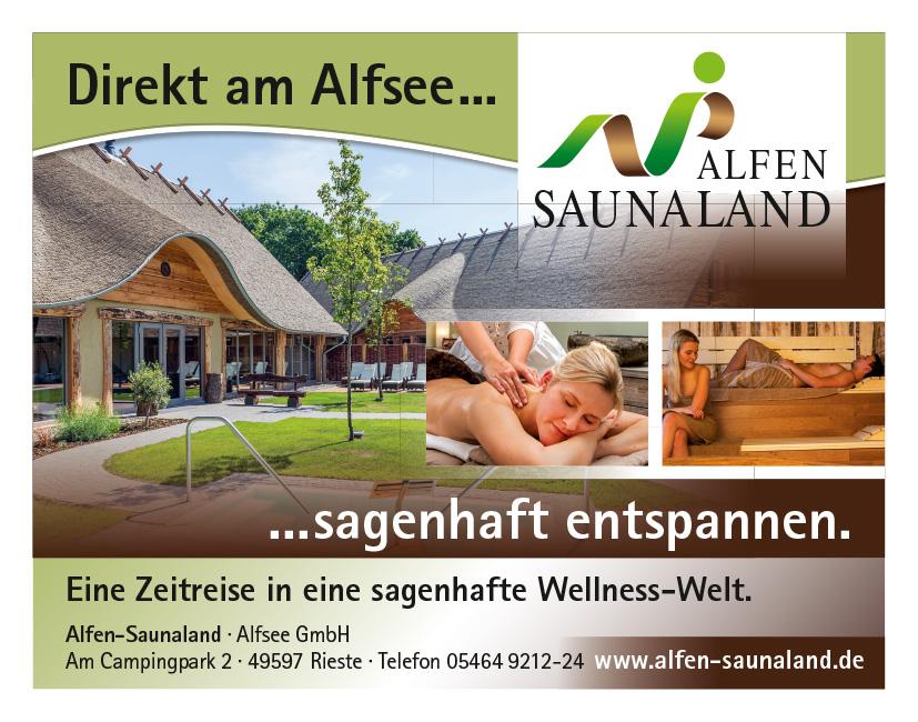 Alfen Sauna, sagenhaft entspannen