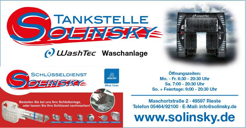 Solinsky Tankstelle, Waschanlage